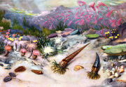 The silurian sea by zdenek burian 1951