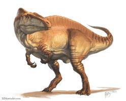 Acrocanthosaurus skin
