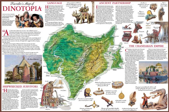 Traveler's map of Dinotopia