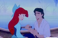Ariel and Eric Kiss the Girl