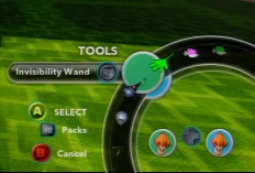 Invisibility wand