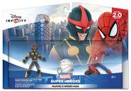 Spiderman and nova packaging