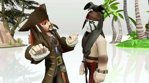 DISNEY INFINITY Toy Box Trailer Capt Jack Sparrow meets Tonto
