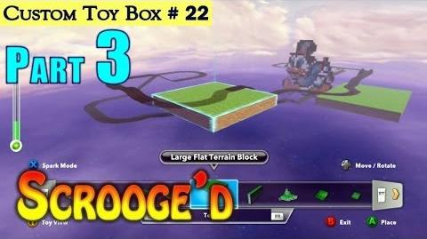HD Disney Infinity DuckTales Custom Toy Box Race Track Part 3 - Building The Terrain