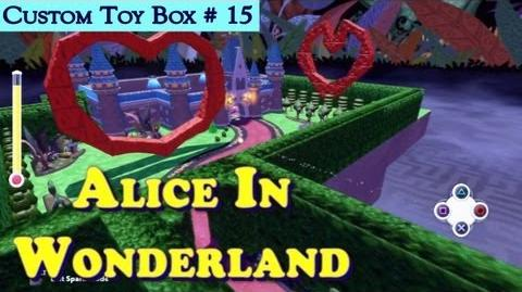 HD PS3 Disney Infinity Alice In Wonderland Custom Toy Box 15 Gameplay