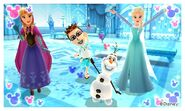 Anna Olaf Elsa and Mii Photos