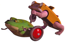 Toy Story Walking Car & Wind Up Frog