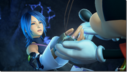 Aqua Meets King Mickey