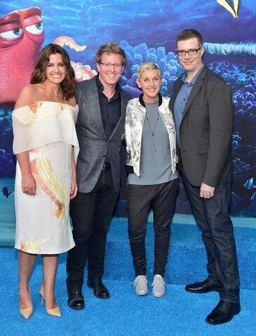 File:Ellen DeGeneres Andrew Stanton Lindsay Collins Angus MacLane.jpg
