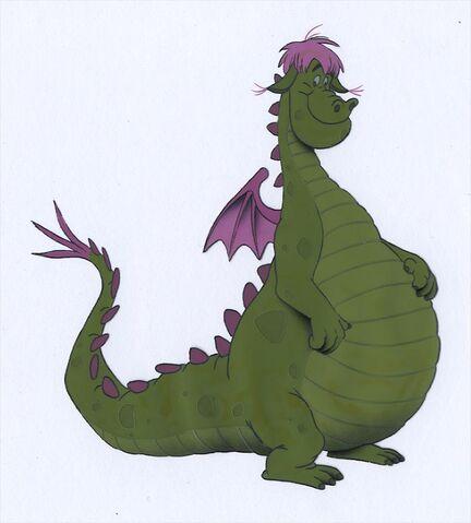 File:Pete's Dragon Animation Color Model Cel - Elliott.jpg