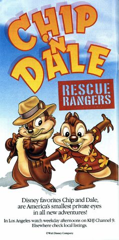 File:Chip n' Dale Rescue Rangers - Promotional Print Ad from 1989 Disneyland Guide Book.jpg