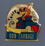 Don Karnage Disney Pin