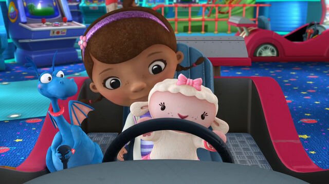 File:Doc, stuffy and lambie at a car game2.jpg
