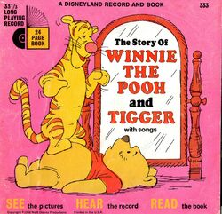 Winnie the Pooh and Tigger Disney Read-Along Record
