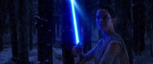 File:Rey with Lightsaber.jpg