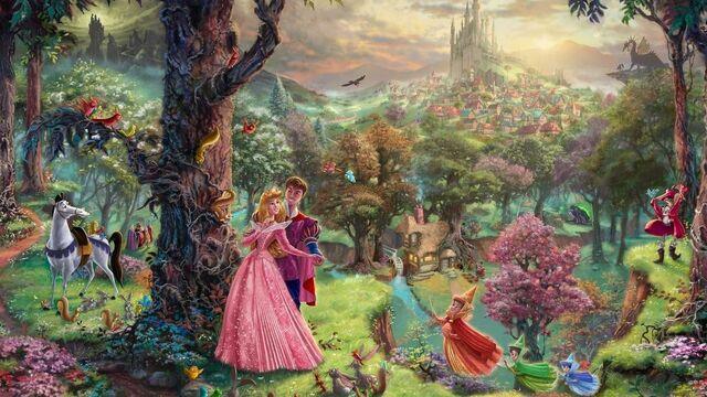 File:-Thomas-Kinkade-Disney-Dreams-disney-princess-31528031-1280-720.jpg