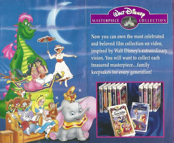 File:Walt Disney Masterpiece Collection - 1995 Promotional Print Advertisment - Characters and Introduction.jpg