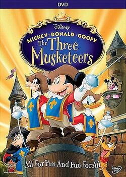 Disney Mickey Donald and Goofy The Three Musketeers dvd