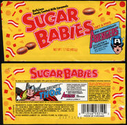 CC Warner-Lambert-Sugar-Babies-Avengers-30th-Anniversary-The-Mighty-Thor-candy-wrapper-package-front-1993