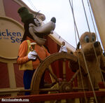 Goofy pluto on ship