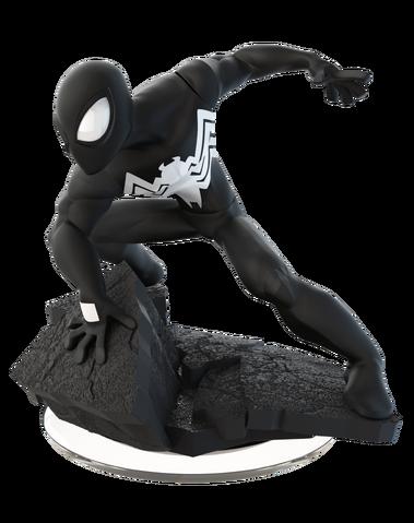 File:Disney INFINITY Black Suit Spider-Man Figure.png