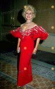 Eva in red dress
