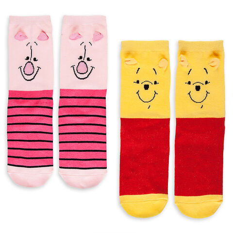 File:Winnie the Pooh and Piglet Sock Set for Women - 2-Pack.jpg