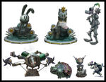 Epic mickey 2 concept art props Oswald Ortensia Goofy