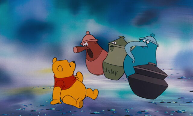 File:Winnie the Pooh just saw the four singing honey pots.jpg