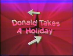 Donald takes a holiday title