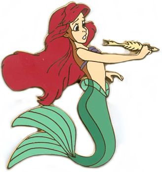 File:Little Mermaid Wooden Boxed Pin Set (Ariel Holding a Fish Bone Pen).jpeg