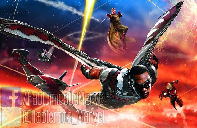 File:Hablemos de Marvel Falcon Iron Man and Vision.jpg