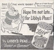 Libby's newspaper ad white rabbit peas 640