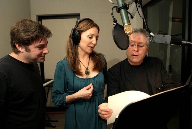File:Alan Menken & Glenn Slater Donna Murphy .jpg