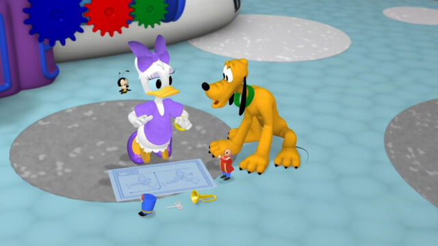 File:Daisy, pluto and buzz buzz were trying to put the pieces back on the toy marcher.jpg