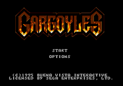 Gargoyles Genesis Title Screen