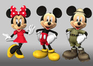 Castle of Illusion Starring Mickey Mouse Minnie& Mickey models