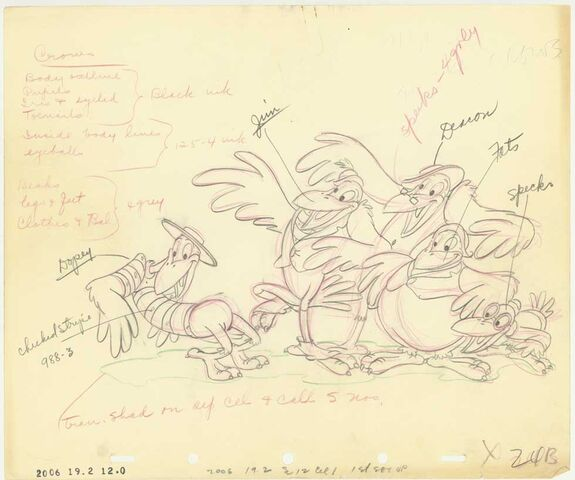 File:Disney's Dumbo - The Crows - Production Drawing with the Character Notes.jpg