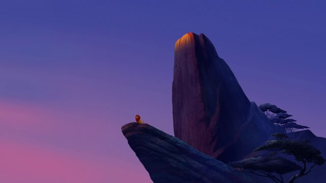 File:The Lion Guard - Pride Rock at Sunrise with Simba.jpg