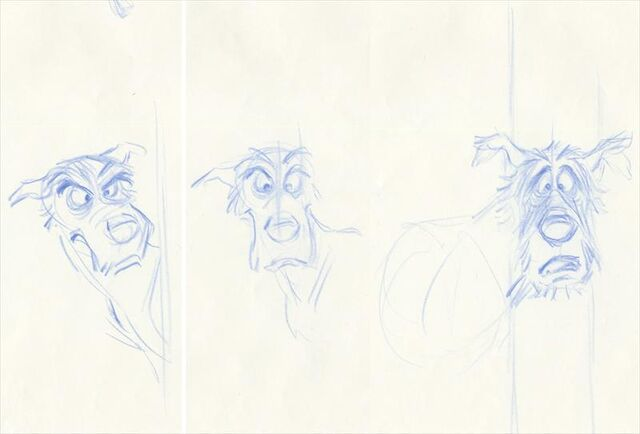 File:THE FOX AND THE HOUND Animation Character Drawings of CHIEF.jpg