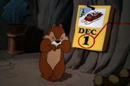 Chip with a December calendar