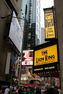 Il Re Leone Insegne in Time Square