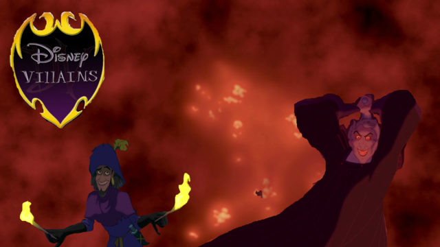 File:Disney Villain Poster Frollo Clopin.png