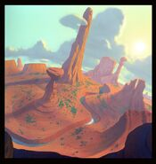 Disney's A Goofy Movie - The Desert Concept by Fred Warter