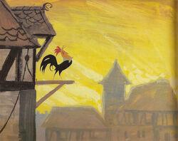 Chanticleer Crows (2)