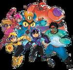 Big Hero 6 team Illustrated Render II