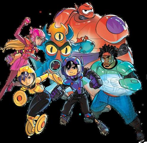 File:Big Hero 6 team Illustrated Render II.png