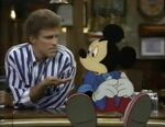 Mickey with Sam Malone