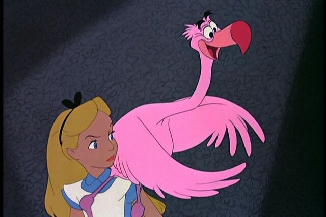 File:Alice in Wonderland with a bird.jpg