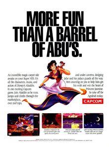 Disney's Aladdin - SNES Video Game - 1993 Promotional Advertisement